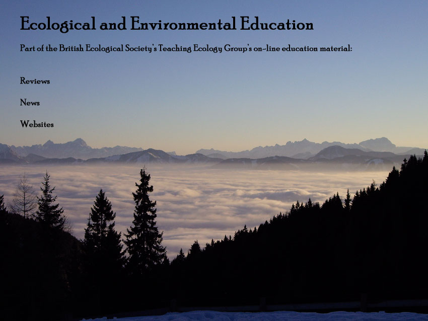 Dr paul s ganderton the teaching ecology group s book review editor